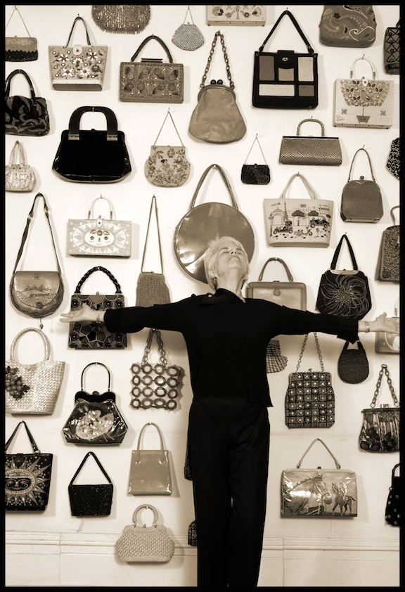 ESSE founder and purse collector extraordinaire Anita Davis sees purses as a representation and extension of a woman. After 25 years of collecting bags, she has too many favorites to pick just one – she loves them all and loves what they represent. Photo by Nancy Nolan